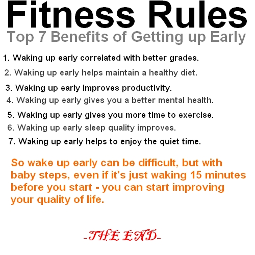 FITNESS RULES - Top 7 Benefits of getting up early