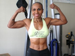 At 74,  Ernestine Shepard is the oldest female body builder. My hero.