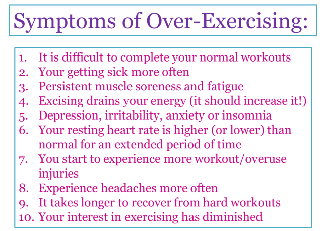 Over-exercising