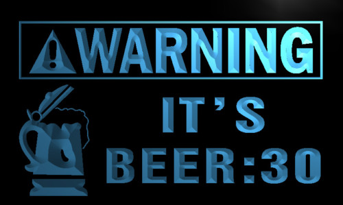 Warning Its Beer 30 Bar Neon Light Sign